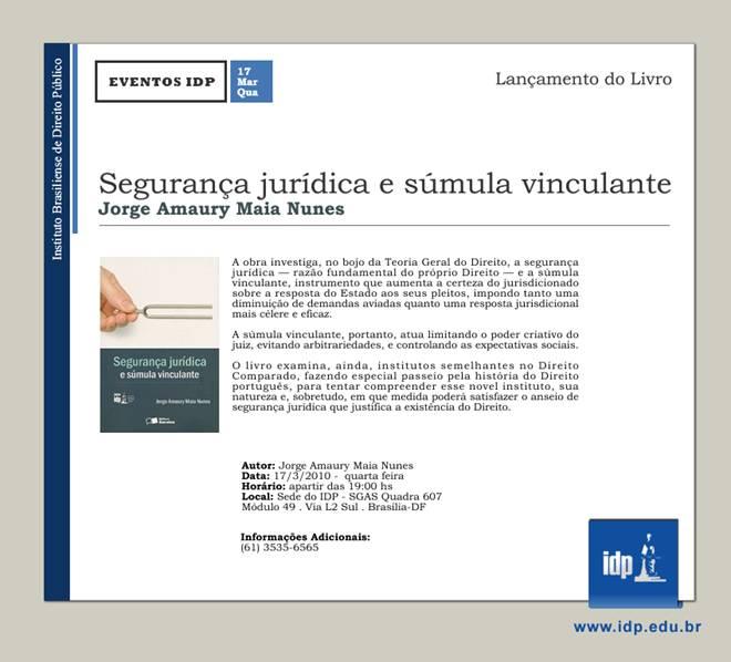 Lançamento do livro do Professor Jorge Amaury Maia Nunes