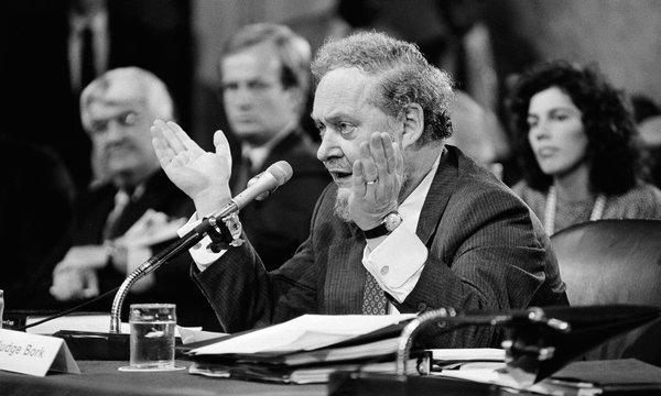 Robert Bork, cujo nome foi rejeitado pelo Senado americano